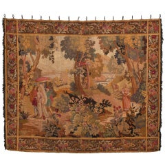 Circa 1820  French Country Scene Tapestry
