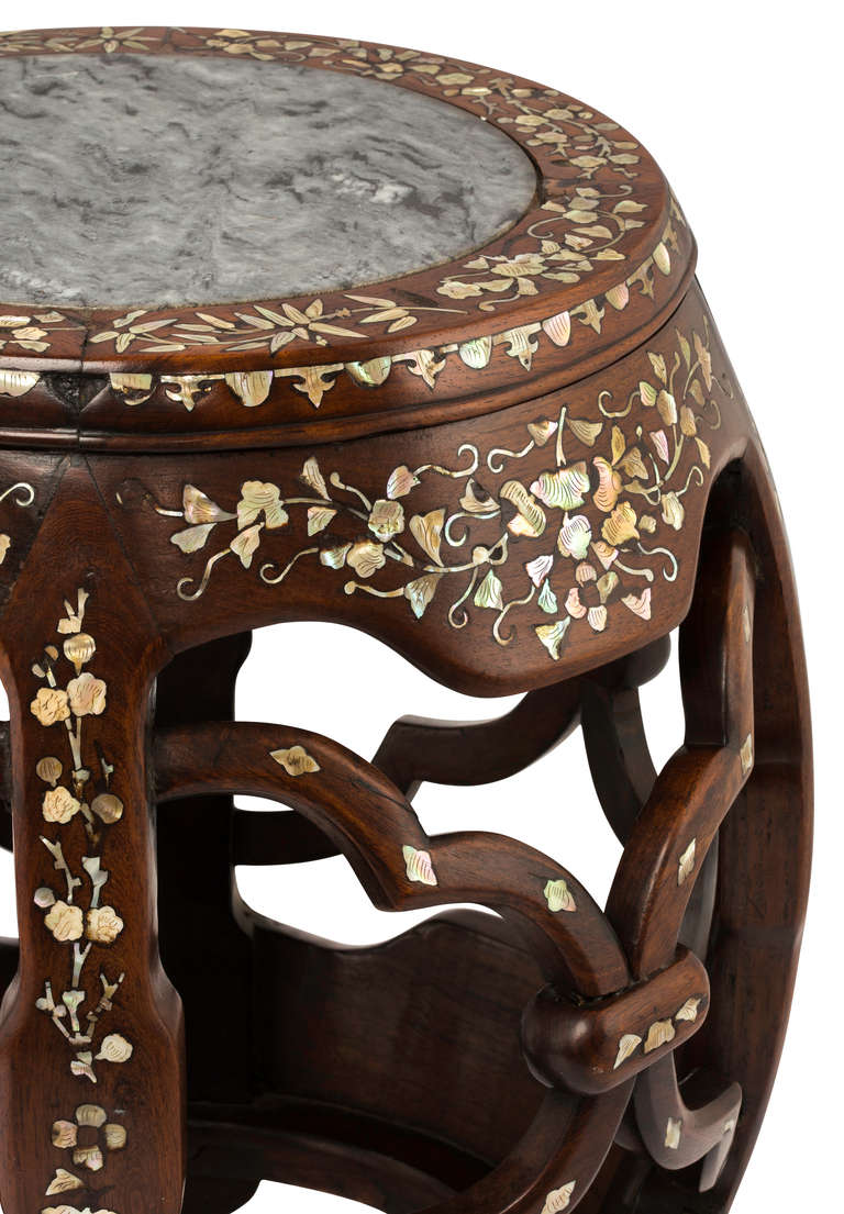 Round Mother Of Pearl Inlay Table Stand At 1stdibs