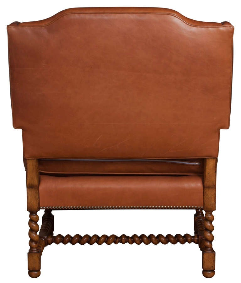 luxury collection of leather chairs with ottoman