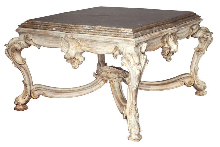 French marble stone top square coffee cocktail table at 1stdibs