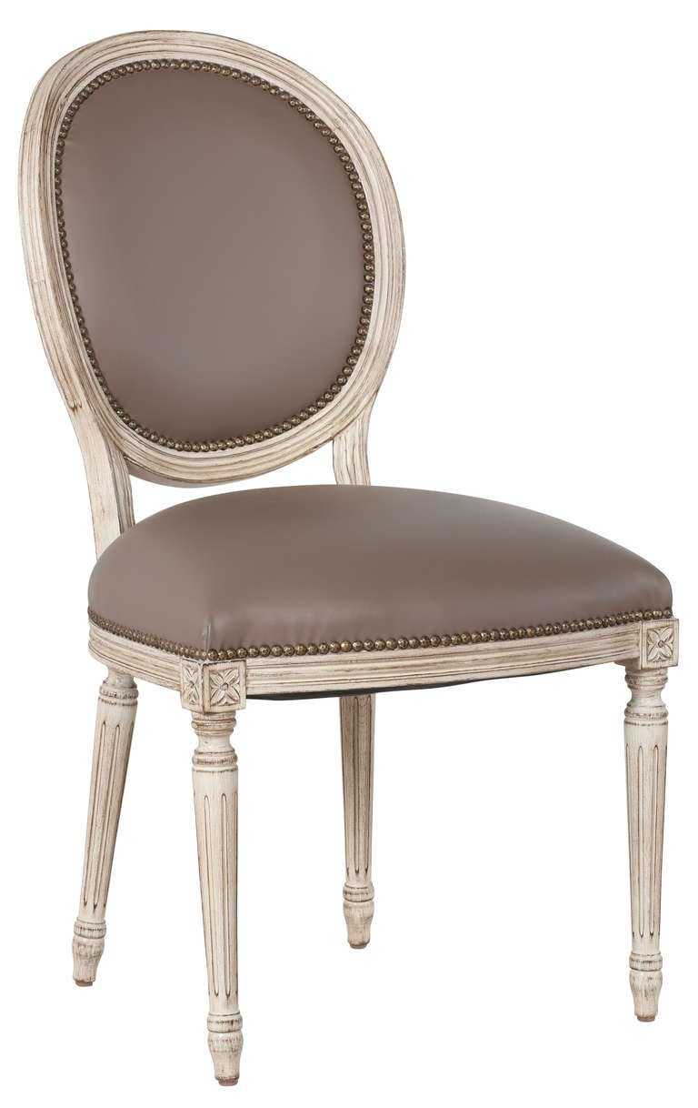 Set of 8 Leather French Dining Chairs at 1stdibs : ChairsLouisXVIleather4107l from www.1stdibs.com size 768 x 1218 jpeg 59kB