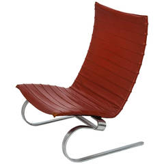 Poul Kjaerholm PK-20 Leather Lounge Chair