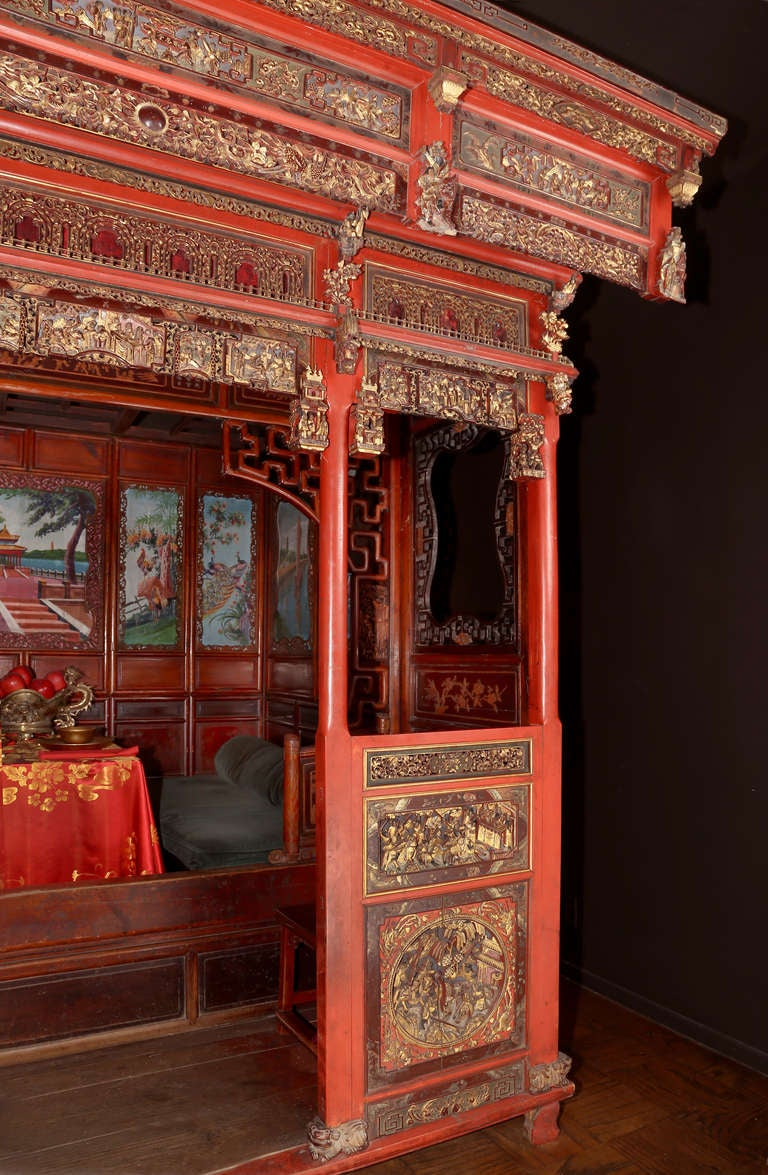 18th c. Exotic Chinese Dining Room/Bed Alcove 3