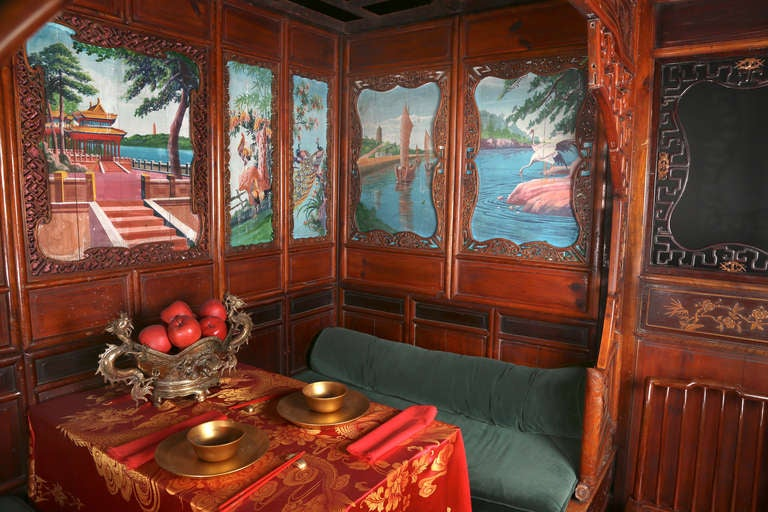 18th c. Exotic Chinese Dining Room/Bed Alcove 2