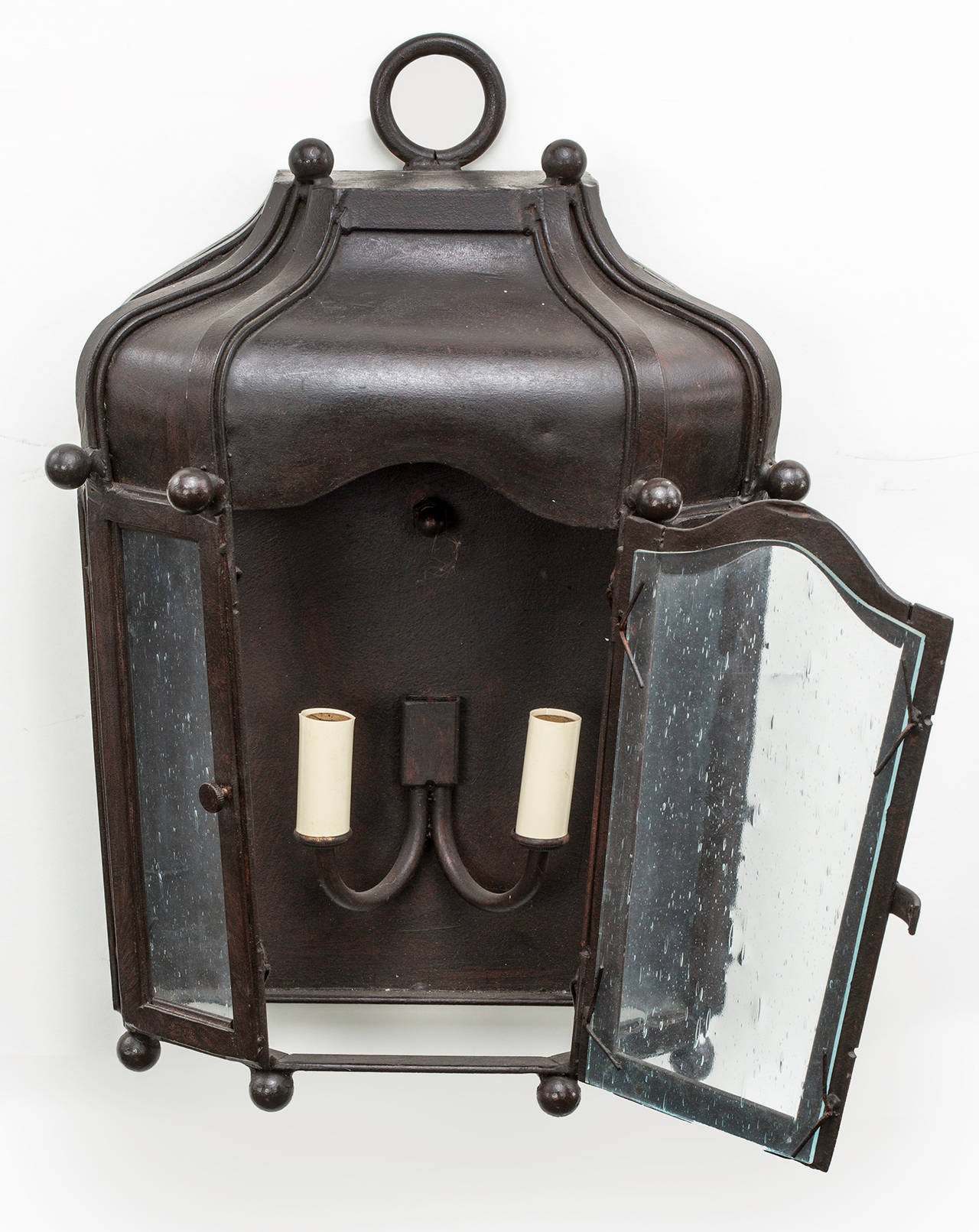 Custom Metal Wall Sconces : Custom-Made Iron Wall Sconce For Sale at 1stdibs