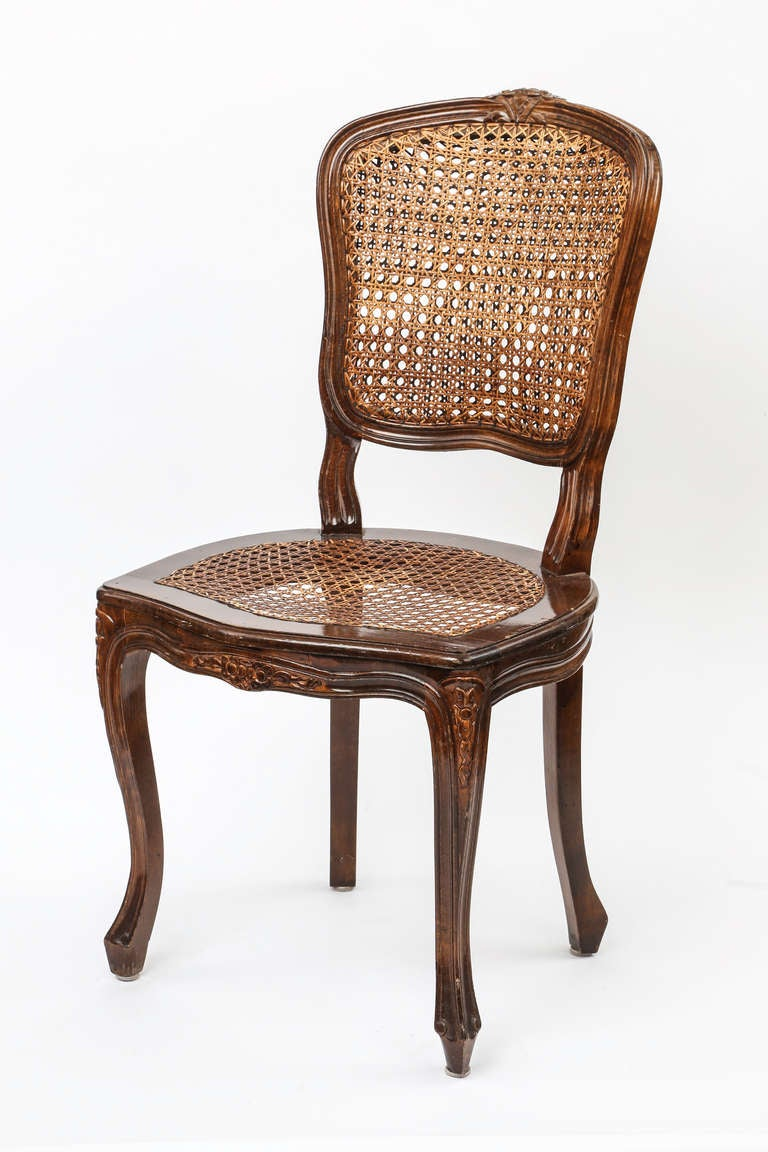 Set of 4 Country French Cane Chairs at 1stdibs