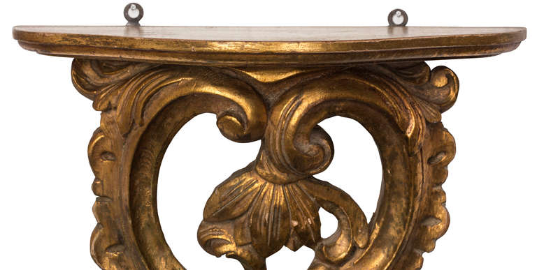 Pair Of Italian Carved Gilt Shelves At 1stdibs