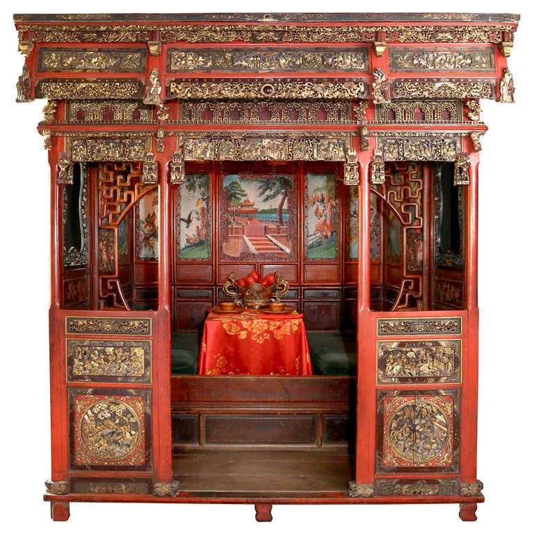18th c. Exotic Chinese Dining Room/Bed Alcove 1