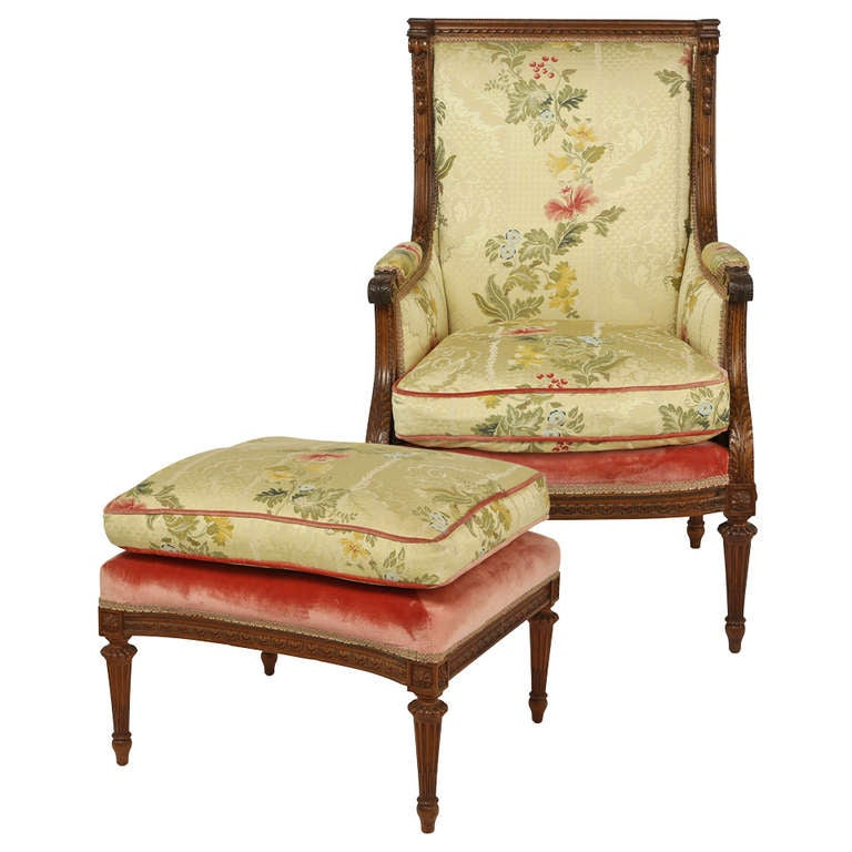 1930s french arm chair and ottoman for sale at 1stdibs for Chinese style furniture for sale