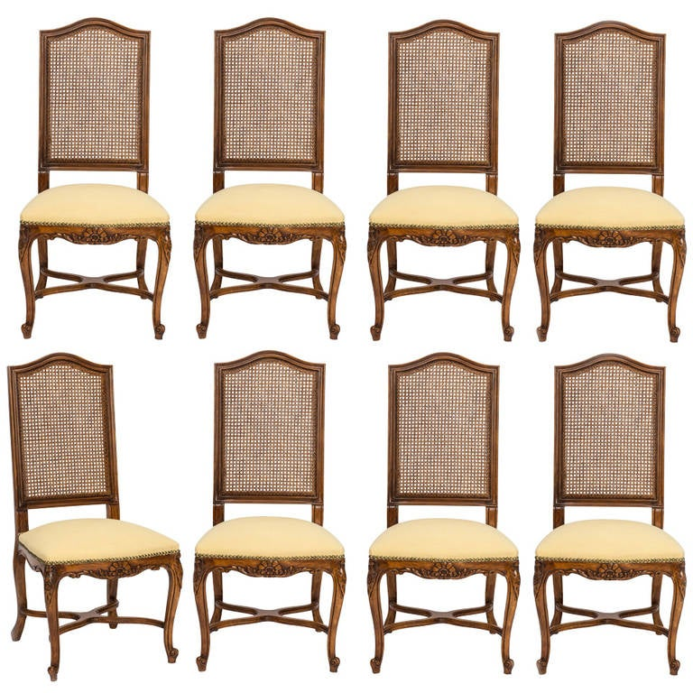 this french cane tall high back dining chairs set of 8 is no longer