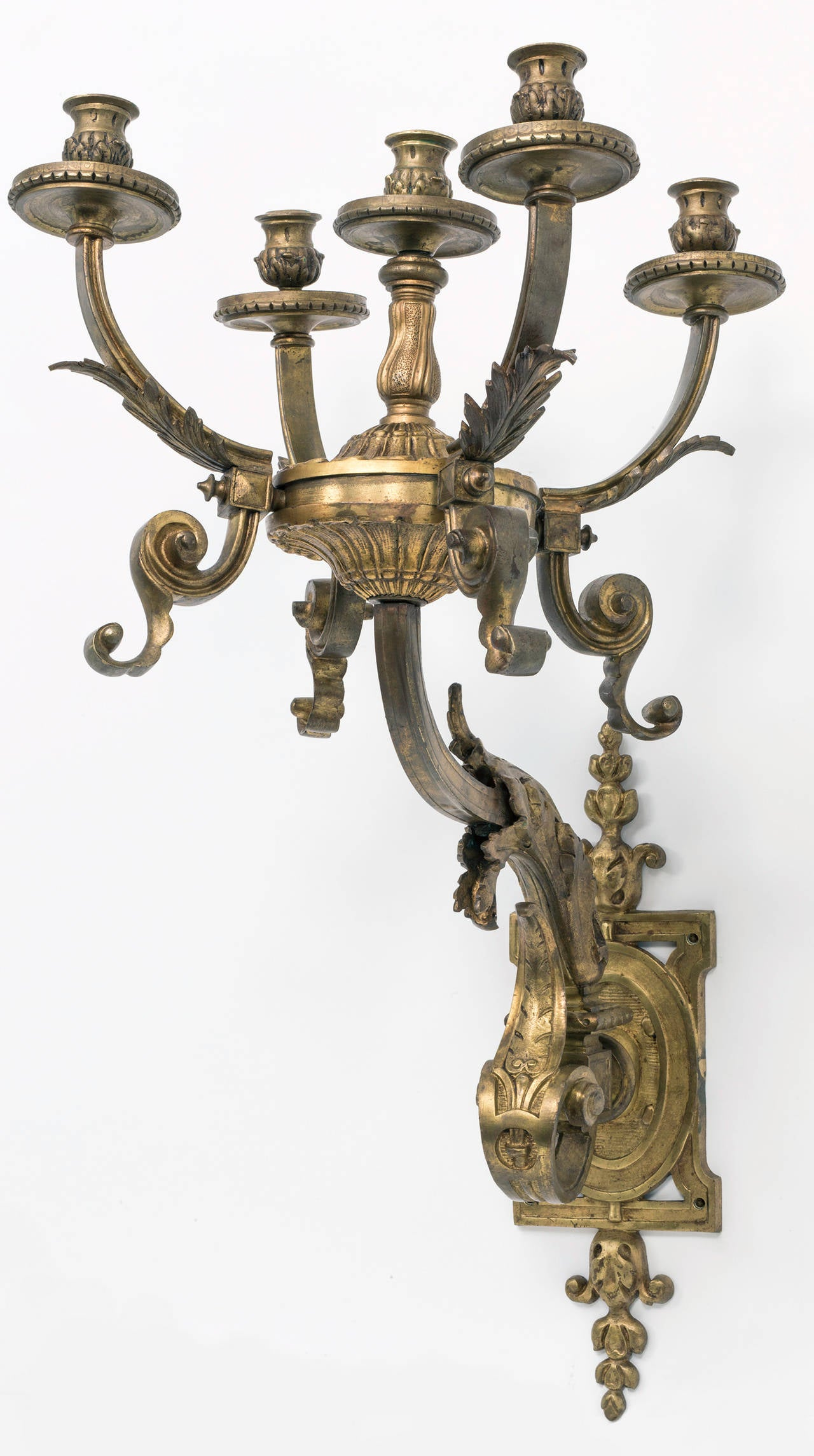 Wall Sconces Bronze : Grand Scale Bronze Wall Sconces For Sale at 1stdibs