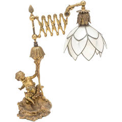 Gilt Bronze Cherub Lamp