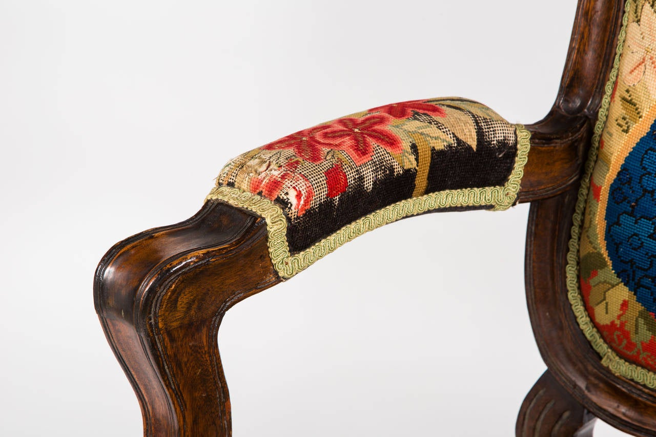 French Needle Point Armchair For Sale 4