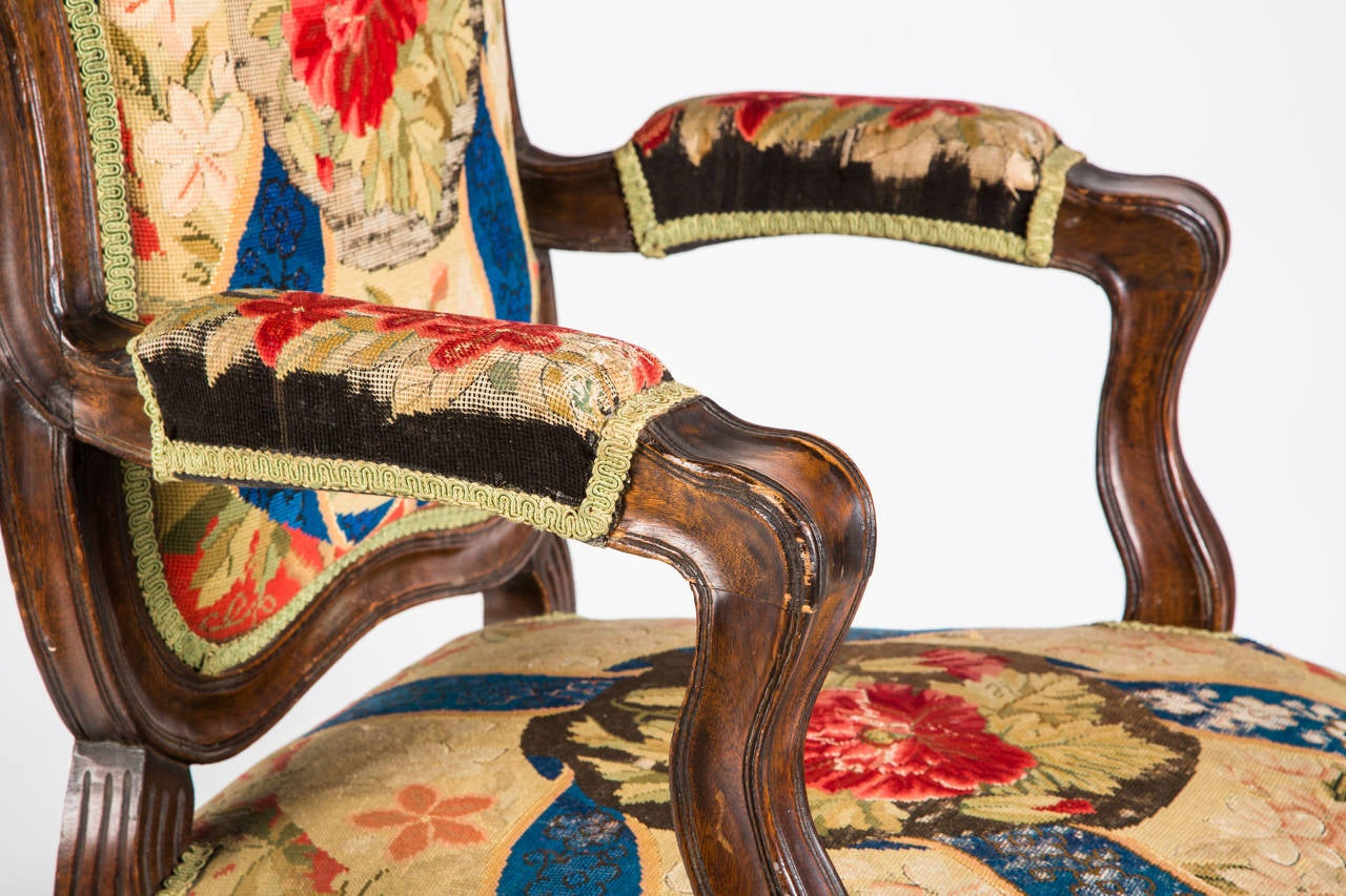 French Needle Point Armchair For Sale 1