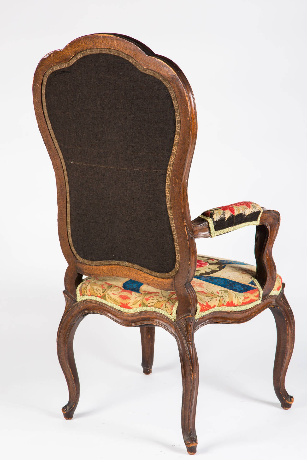 French Needle Point Armchair For Sale 3