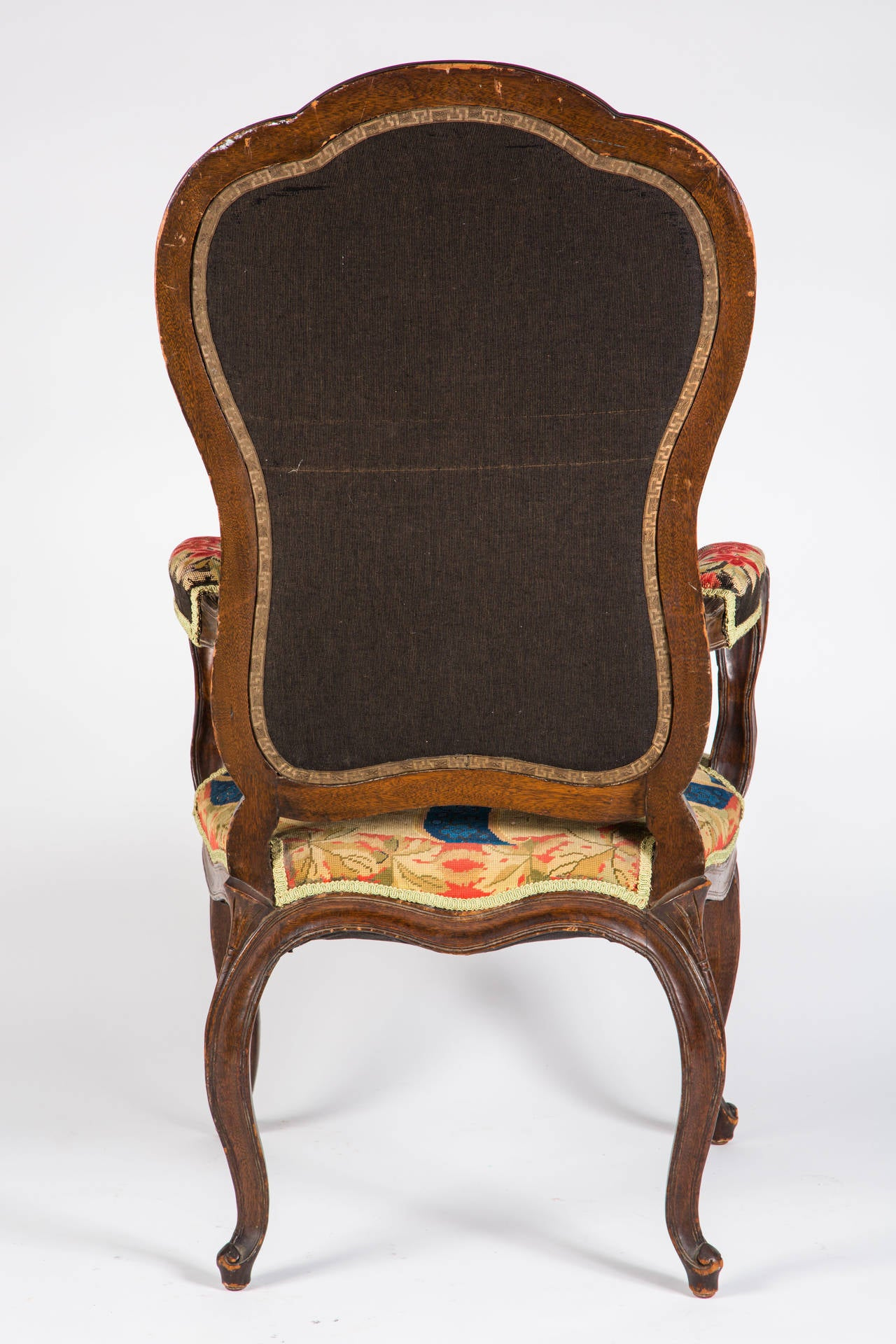French Needle Point Armchair For Sale 6