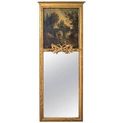19th Century Very Vertical French Trumeau or Mirror