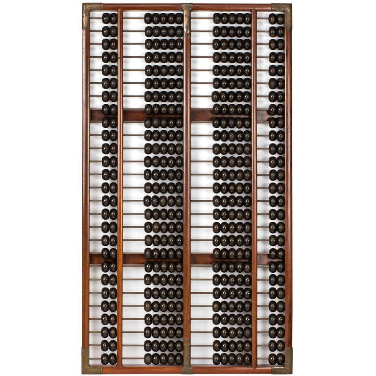 Grand scale abacus at 1stdibs for Abacus cuisine of china