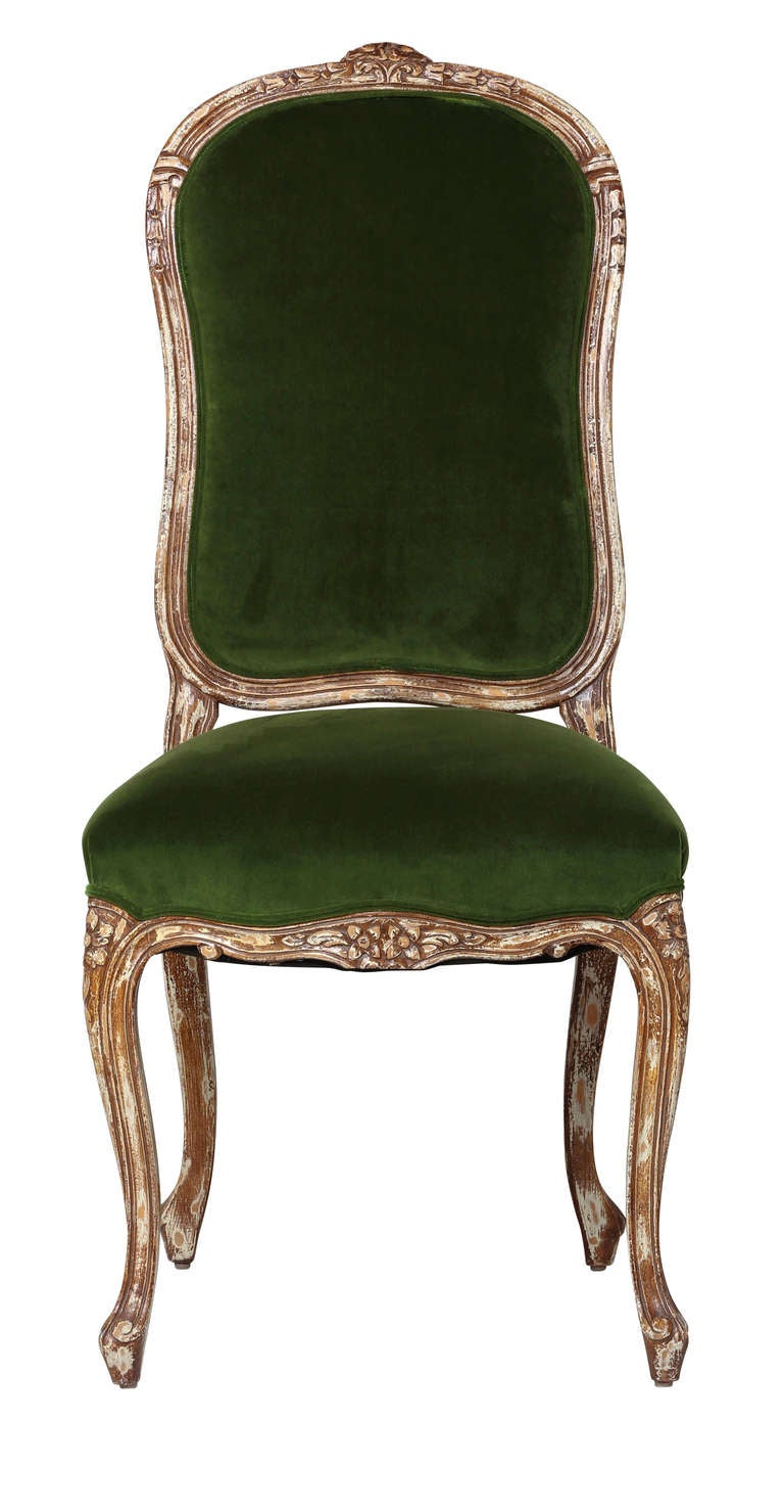 Late 1800s Four French Chairs at 1stdibs : Chairs4greenvelvetside6418l from 1stdibs.com size 768 x 1479 jpeg 86kB