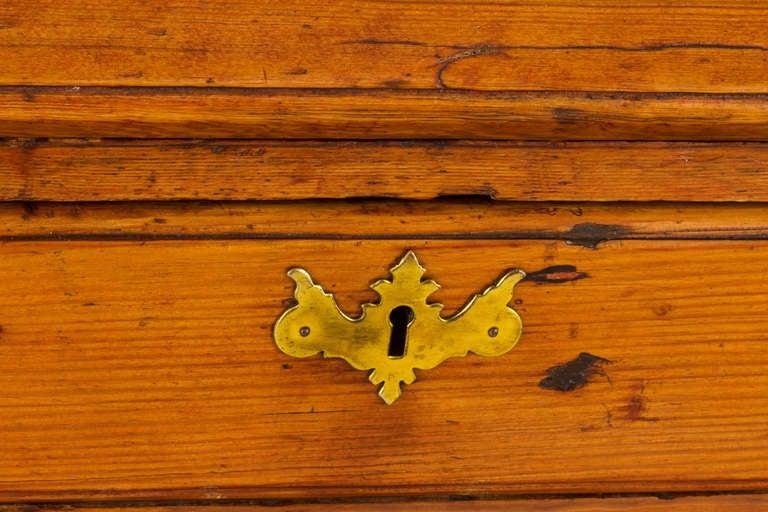19th c. French Hand Made Pine Secretary Desk 5