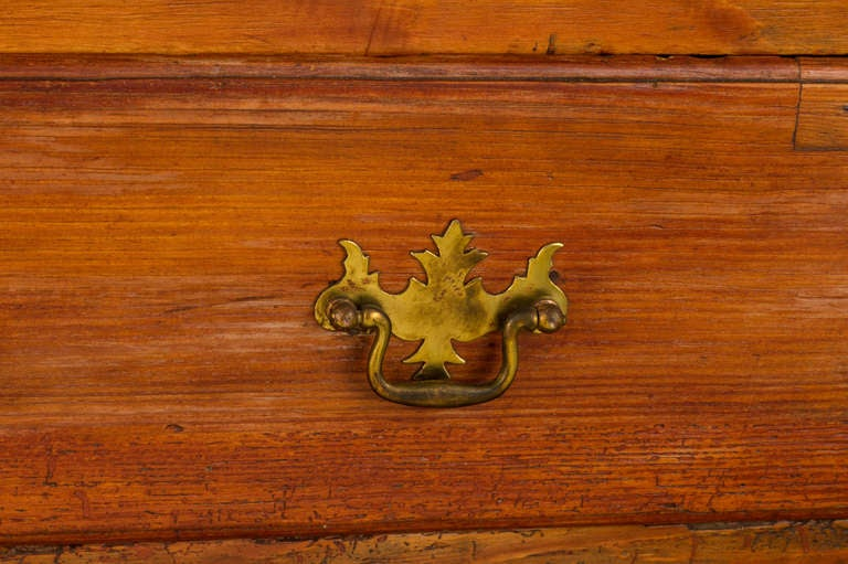 19th c. French Hand Made Pine Secretary Desk 7