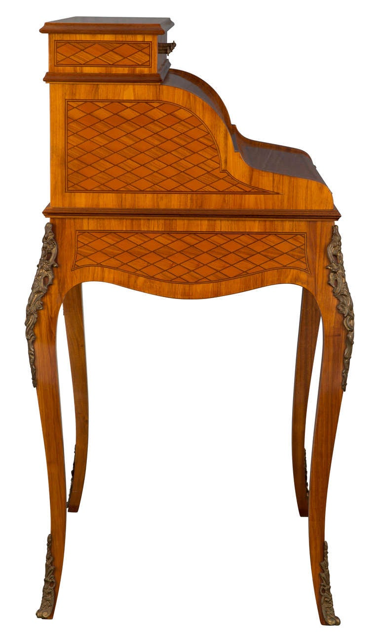 Italian Marquetry Desk Secretary At 1stdibs
