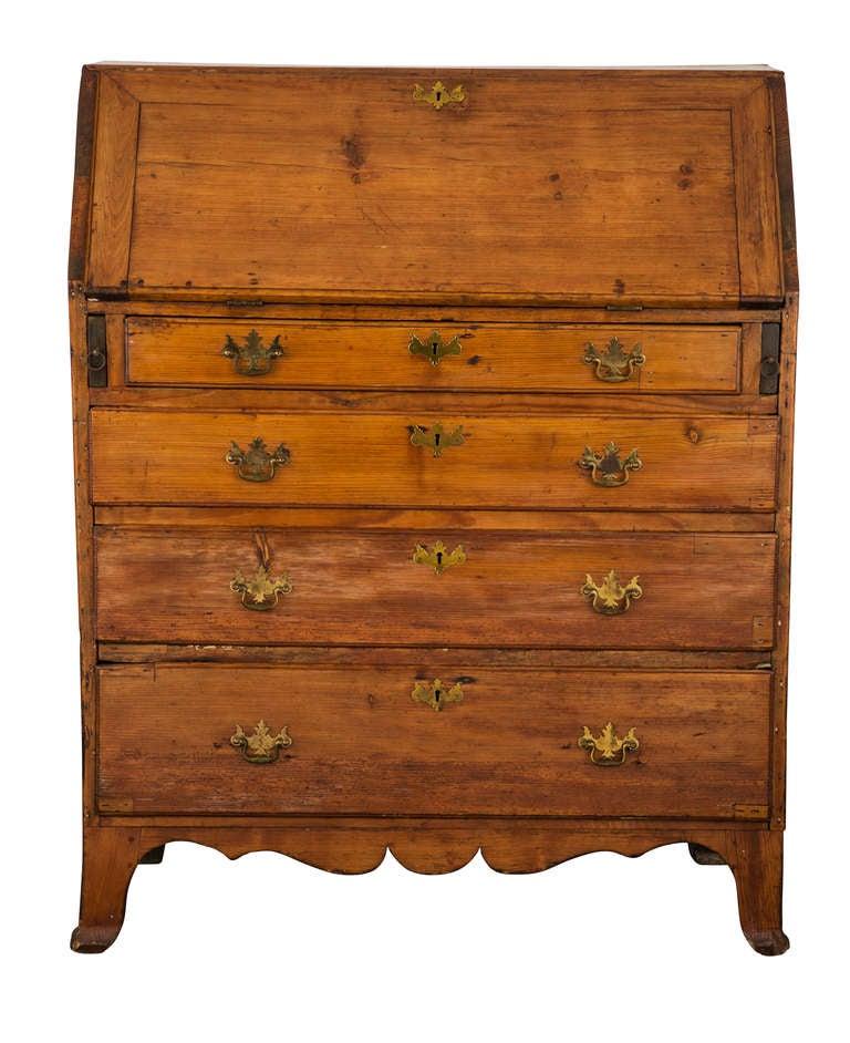 19th c. French Hand Made Pine Secretary Desk 6