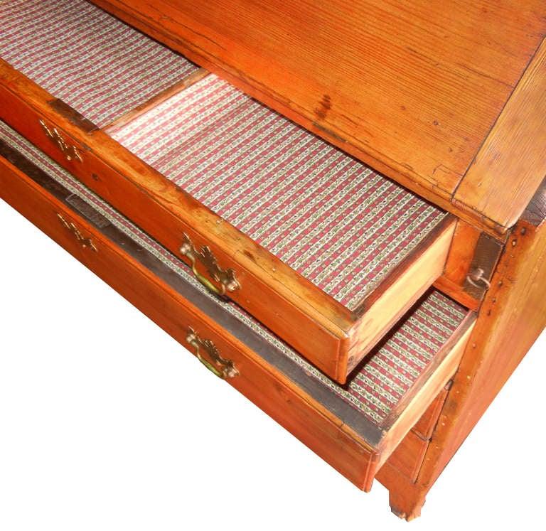 19th c. French Hand Made Pine Secretary Desk 8