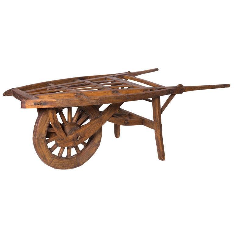 19th Century Wooden Flower Cart On Wheel At 1stdibs