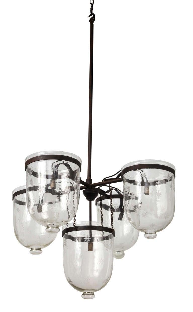 this 1930s fabulous five bell jar chandelier lanterns is no longer. Black Bedroom Furniture Sets. Home Design Ideas