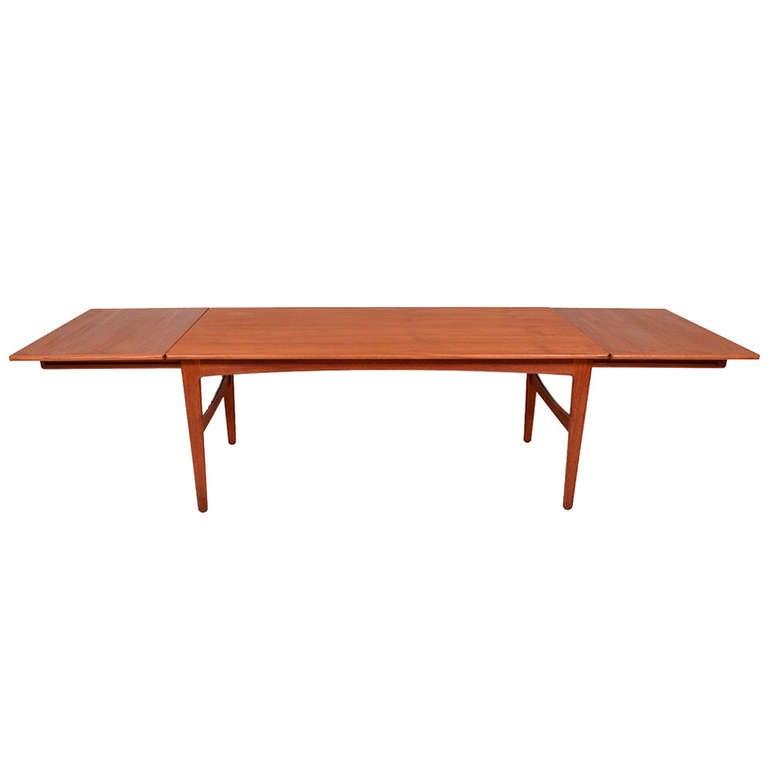 Danish Modern Teak Dining Table Knud Andersen For Sale at  : 1013298l from www.1stdibs.com size 768 x 768 jpeg 14kB