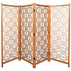 teak Screen Room Divider