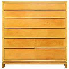 Bleached Mahogany Highboy / Gentleman's Chest of Drawers by Red Lion
