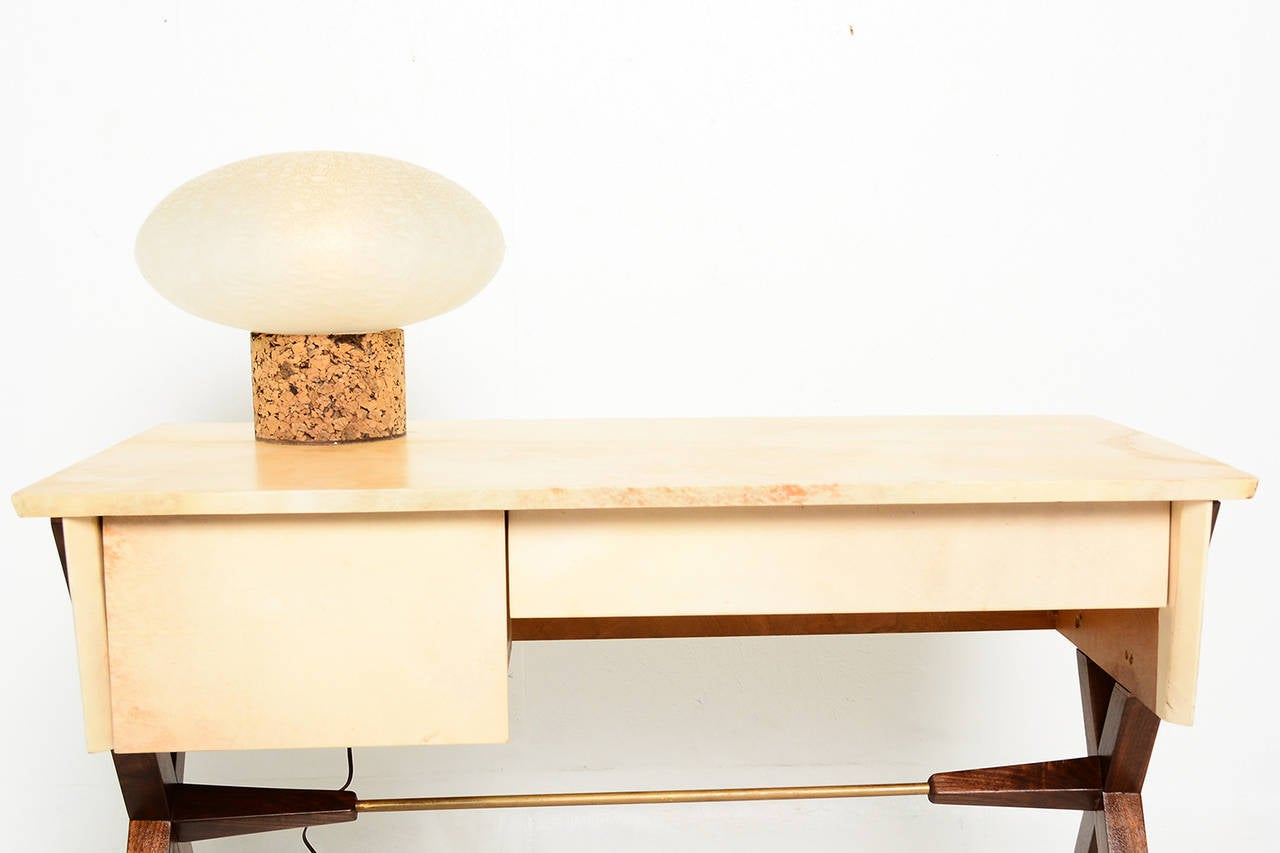 Rare Laurel Table Lamp With Cork Base At 1stdibs