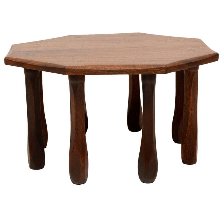 Octagon Side Table ~ Octagon solid mahogany side table