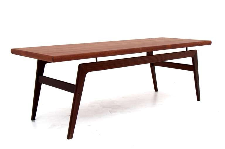 Danish modern teak coffee table attr ib kofod larsen at for Danish modern coffee table