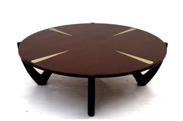 Round Coffee Table Attr Ico Parisi At 1stdibs