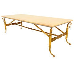 Arturo Pani Parchment and Brass Coffee Table
