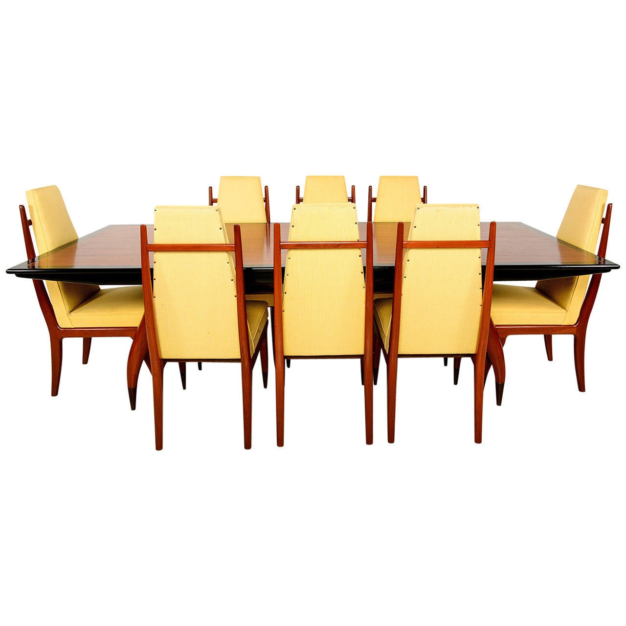 mid century mexican modesnist dining set attributed to