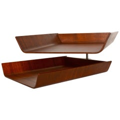 Knoll Office Walnut Paper Tray
