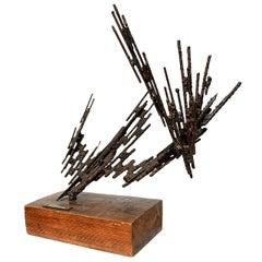 Stanyo Kaminsky Brutalist Sculpture, 1977