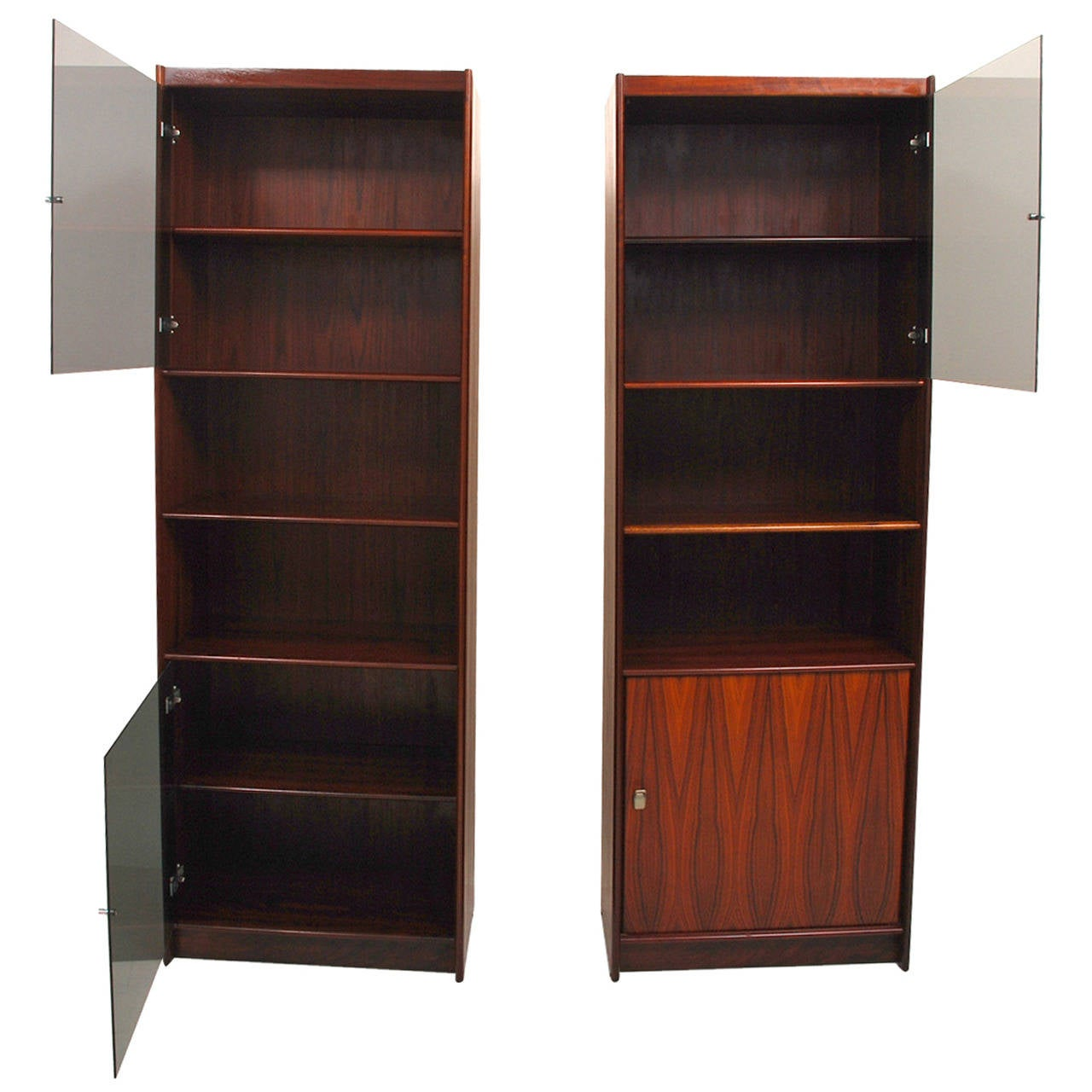 Pair of Danish Modern Rosewood Bookcases 1960s