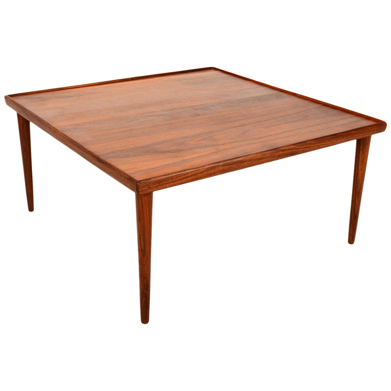 Teak square coffee table danish modern at 1stdibs Modern teak coffee table