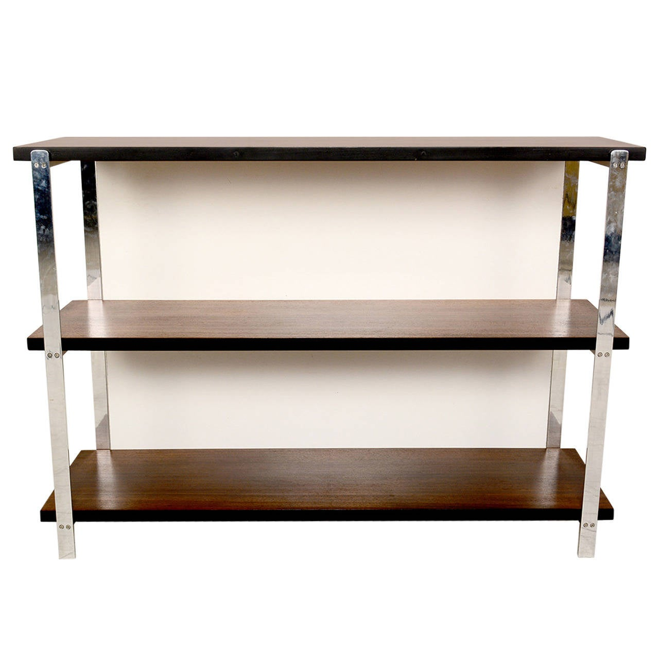 Custom Bookcase In Mahogany And Aluminum At 1stdibs