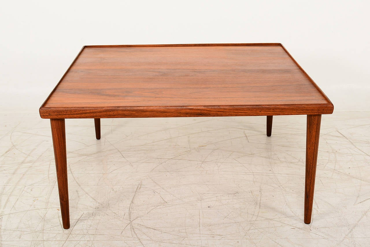 Teak Square Coffee Table Danish Modern At 1stdibs