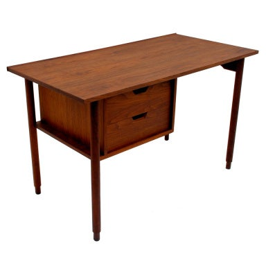 Charles Pechanec Walnut Desk California Modern 1958 At 1stdibs