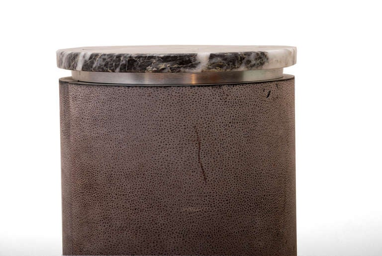 Leather Wrapped Dry Bar Attributed To Karl Springer At 1stdibs