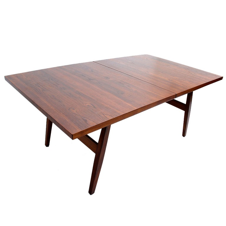 Dining Table Milo Baughman Walnut Dining Table