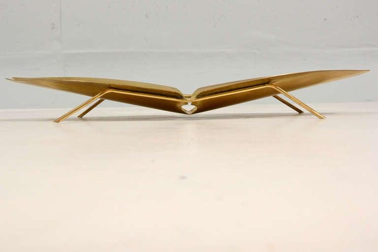 Ikora Brass Serving Plate 2