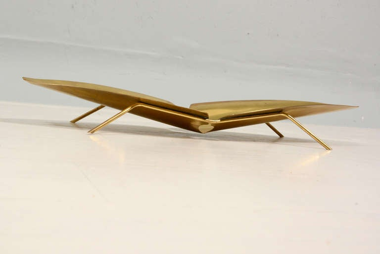 Ikora Brass Serving Plate 4